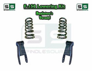 "2004 - 2014 Ford F-150 F150 2"" / 2"" or 2"" / 3"" Drop Lowering Kit Coils Shackles"