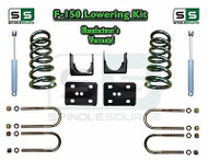 "2004 - 2014 Ford F-150 F150 3"" / 6"" Drop Lowering Kit Coils Flip 3/6 + SHOCKS"