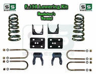 "2004 - 2014 Ford F-150 F150 3"" / 5"" Drop Lowering Kit Coils Shackles 3/5 Drop"