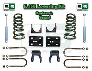 "2004 - 2014 Ford F-150 F150 3"" / 5"" Drop Lowering Kit Coils Flip 3/5 + SHOCKS"