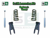 "2004 - 2014 Ford F-150 F150 3"" / 3"" Drop Lowering Kit Coils Shackles + SHOCKS"