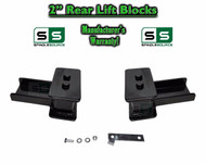 "2004 - 2018 Ford F-150 F150 REAR 2"" inch Tapered Fab Lift Blocks with Bumpstop"