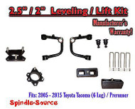"2005 - 2016 Toyota Tacoma 2.5"" / 2"" Lift Kit + TUBULAR Upper Arms UCA"
