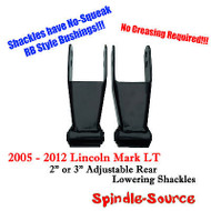"2005 - 2012 Lincoln Mark LT 2"" 3"" Drop Lowering Shackles SET RB Silent Bushings"
