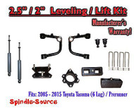 "2005 - 2016 Toyota Tacoma 2.5"" / 2"" Lift Kit + TUBULAR Upper Arms UCA + SHOCKS"