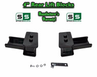 "2004 - 2018 Ford F-150 F150 REAR 4"" inch Tapered Fab Lift Blocks with Bumpstop"