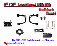 "2005 - 2016 Toyota Tacoma 3"" / 2"" Lift Kit + TUBULAR Upper Arms UCA"