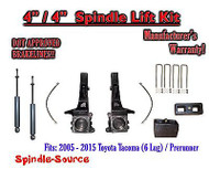 "2005 - 2016 Toyota Tacoma 6 Lug / Prerunner 4"" / 4"" Lift Kit, Brakelines, SHOCKS"