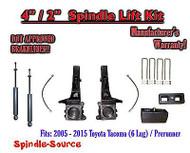 "2005 - 2016 Toyota Tacoma 6 Lug / Prerunner 4"" / 2"" Lift Kit, Brakelines, SHOCKS"