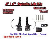 """2005 - 2016 Toyota Tacoma 6 Lug / Prerunner 4"""" / 4"""" Lift Kit + DOT Brakelines"""