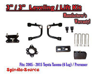 "2005 - 2016 Toyota Tacoma 3"" / 3"" Lift Kit + TUBULAR Upper Arms UCA"