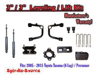 "2005 - 2016 Toyota Tacoma 3"" / 3"" Lift Kit + TUBULAR Upper Arms UCA + SHOCKS"
