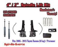 "2005 - 2016 Toyota Tacoma 6 Lug / Prerunner 4"" / 3"" Lift Kit, Brakelines, SHOCKS"