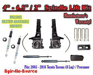 "2005 - 2016 Toyota Tacoma Prerunner 6.5"" / 2"" LIFT Kit, Bilstein 5100 Shocks, rs"