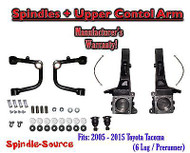 "2005 - 2018 Toyota Tacoma Prerunner 4"" inch Lift Spindles + UPPER CONTROL ARMS"