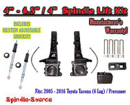 "2005 - 2016 Toyota Tacoma Prerunner 4 - 6.5"" / 4"" LIFT Kit, Bilstein 5100 Shocks"