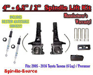 "2005 - 2016 Toyota Tacoma Prerunner 4 - 6.5"" / 2"" LIFT Kit, Bilstein 5100 Shocks"