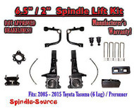 "2005 - 2016 Toyota Tacoma Prerunner 6.5"" / 2"" Lift Kit Spindles, Upper Arms UCA"