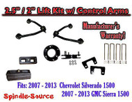"2007 - 13 Chevy Silverado GMC Sierra 1500 2.5"" inch / 2"" CONTROL ARM LIFT KIT"