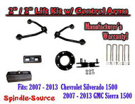 "2007 - 13 Chevy Silverado GMC Sierra 1500 2"" inch / 2"" CONTROL ARM LIFT KIT"