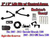 "2007 - 13 Chevy Silverado GMC Sierra 1500 3"" inch / 3"" CONTROL ARM LIFT KIT"
