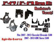 "2007 - 13 Chevy Silverado GMC Sierra 1500 3/5"" to 4/6"" Fully Adjustable DROP KIT"