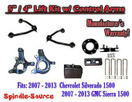 "2007 - 13 Chevy Silverado GMC Sierra 1500 5"" / 4"" Spindle Lift KIT Control Arms"