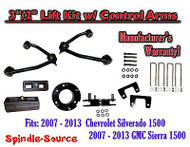 "2007 - 13 Chevy Silverado GMC Sierra 1500 3"" inch / 2"" CONTROL ARM LIFT KIT"