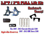 "2007 - 13 Chevy Silverado GMC Sierra 1500 3.5"" inch / 3"" Spindle LIFT KIT 2WD"