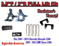 "2007 - 13 Chevy Silverado GMC Sierra 1500 3.5"" inch / 2"" Spindle LIFT KIT 2WD"