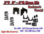 "2007 - 13 Chevy Silverado GMC Sierra 1500 V6 3/5"" 3/6"" DROP KIT Flip Coil Hanger"