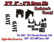 "2007 - 13 Chevy Silverado GMC Sierra 1500 V8 2/5"" 2/6"" DROP KIT Flip Coil Hanger"