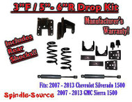 "2007 - 13 Chevy Silverado GMC Sierra 1500 V8 3/5"" - 3/6"" DROP KIT Coil SHOCKS"