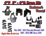 "2007 - 13 Chevy Silverado GMC Sierra 1500 V6 4/5"" 4/6"" DROP KIT Flip Coil Hanger"