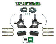 "2007 - 17 Chevy Silverado GMC Sierra 1500 7.5"" / 5"" Spindle FULL LIFT KIT 2WD"