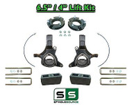 "2007 - 17 Chevy Silverado GMC Sierra 1500 6.5"" / 4"" Spindle FULL LIFT KIT 2WD"