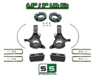 "2007 - 17 Chevy Silverado GMC Sierra 1500 6.5"" / 3"" Spindle FULL LIFT KIT 2WD"