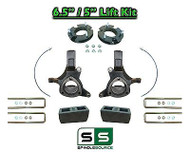 "2007 - 17 Chevy Silverado GMC Sierra 1500 6.5"" / 5"" Spindle FULL LIFT KIT 2WD"