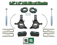 "2007 - 17 Chevy Silverado GMC Sierra 1500 6.5"" / 4"" Spindle LIFT KIT 2WD SHOCKS"