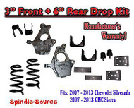 "2007 - 2013 Chevrolet Silverado / GMC Sierra 1500 V6 3"" / 6"" Lowering Drop kit"