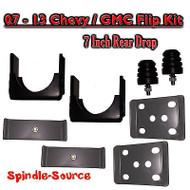 """2007 - 2013 Chevrolet Silverado / GMC Sierra 1500 7"""" REAR Flip Kit 2WD 4WD Truck"""