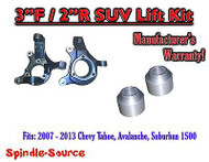 "2007 - 2013 Chevrolet Suburban Tahoe Avalanche 1500 2WD 3"" / 2"" Lift Kit Spindle"