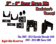 "2007 - 2013 Chevy Silverado / GMC Sierra 1500 Hanger + Flip kit 5"" - 6"" Drop"