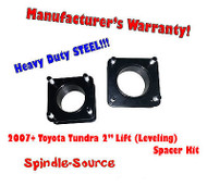"2007 - 2013 Toyota Tundra 2WD 4x2 2"" in FRONT Leveling Lifting Strut Spacer Kit"