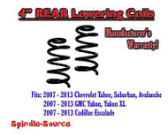 "2007 - 2014 Chevy GMC SUV 4"" Drop Lowering Coils Springs Yukon Avalanche + MORE"