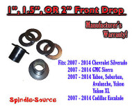 "2007 - 2014 Chevy / GMC Trucks and SUVs 1 - 2"" Lowering Strut Spacer / Relocator"