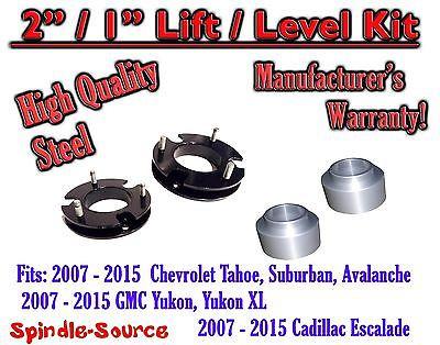 "Black Rear 2/"" Lift Kit Cadillac Chevy GMC SUV 1500 2007-2015"