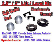 "2007 - 2015 Chevrolet Tahoe GMC Yukon 1500 SUV 2.5"" / 2"" FULL LIFT KIT Chevy"