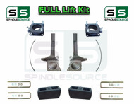 """2007 - 2016 Toyota Tundra 6"""" / 4 inch Spindle Block Lift Kit 2WD DOT Brake Lines"""