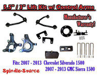 "2007 -13 Chevy Silverado GMC Sierra 1500 5.5"" / 3"" Spindle Lift KIT Control Arms"